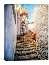 Stairway to the monastery., Canvas Print