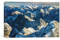 Bavarian peaks, Canvas Print