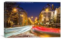 Munich city lights., Canvas Print