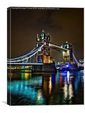 Tower bridge aglow, Canvas Print