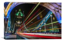Tower bridge at the speed of light., Canvas Print