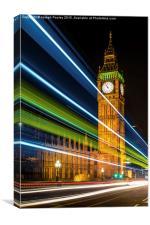 London never sleeps., Canvas Print