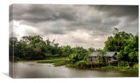 House on the river, Canvas Print