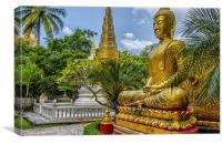 Golden Buddha , Canvas Print