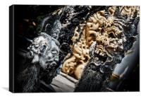 Devil masks of Wot Rong Khun, Canvas Print