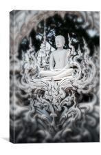 White Buddha , Canvas Print