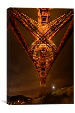 Forth Rail Bridge - Underbelly, Canvas Print
