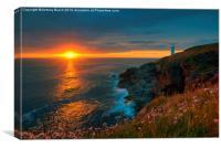 Trevose Head Sunset, Canvas Print