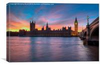 Westminster Sundown, Canvas Print