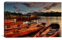 Keswick Sunset, Canvas Print