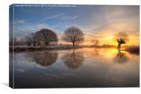 Frozen Dawn, Canvas Print