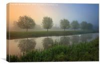 River Stour misty Dawn, Canvas Print