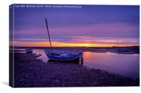 Burnham Overy Staithe Afterglow, Canvas Print