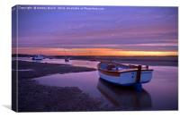 Burnham Overy Staithe Sunset, Canvas Print