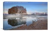 Dedham Vale mist, Canvas Print