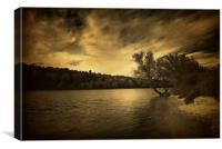 Along the river, Canvas Print