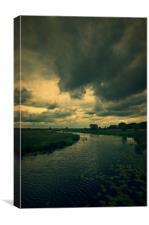 Trekking on the marshlands #2, Canvas Print