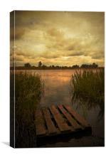 Gone fishing again, Canvas Print