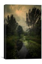 Trekking on the marshlands #4, Canvas Print
