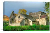 valle crucis abbey, Canvas Print