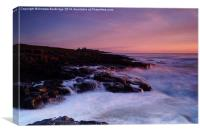 Dunstanburgh on the Rocks, Canvas Print