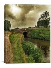 Bridge 55 On The Huddersfield Narrow Canal, Canvas Print