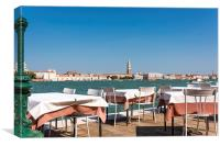 Lunch in Venice, Canvas Print