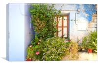Traditional Mediteranean Home, Canvas Print