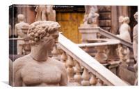 Palermo, Sicily, Italy - Fountain of Shame close u, Canvas Print