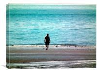 Stroll on the beach, Canvas Print
