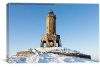 Darwen Tower in the Snow, Canvas Print