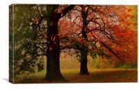 textured/painterly Autumn scene  Hampstead-heath , Canvas Print