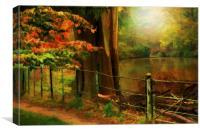 Autumn pond , Canvas Print