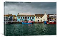weymouth Harbour Dorset uk , Canvas Print
