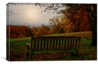 Autumn  at kenwood house   overlooking the city o, Canvas Print