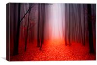 The Red Forest, Canvas Print