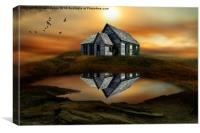 the house on top of the hill , Canvas Print