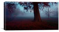 misty blue, Canvas Print