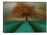 The Autumn tree , Canvas Print