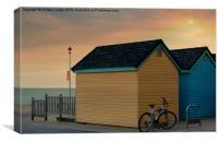 the beach huts , Canvas Print