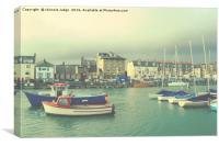 weymouth  fishing boats  uk , Canvas Print
