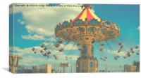 bournemouth fun fair ride , Canvas Print