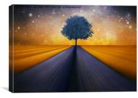 The little blue Tree , Canvas Print