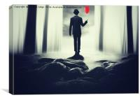 The man with the red balloon, Canvas Print