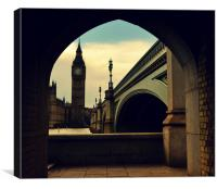 Big  ben  houses of parliment , Canvas Print