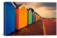 Bournemouth Beach Huts , Canvas Print