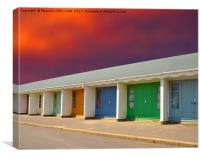 Bournemouth beach Huts Dorset uk , Canvas Print