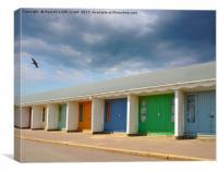 Bournemouth beach Huts Dorset uk, Canvas Print