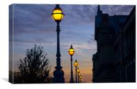 Night Time Alexandra Palace London Uk , Canvas Print