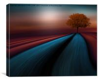 The Little red tree, Canvas Print